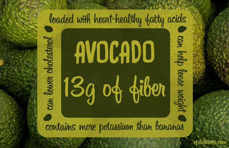 Looking to add more fiber to your diet? Include more avocados! They have one of the highest fiber contents of any fruit or vegetable. #avocado #fiber