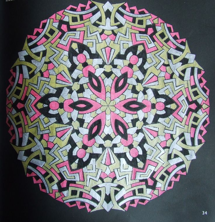 Kaleidoscopes 34 done with gelpens