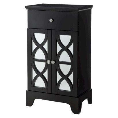 Superior Lattice Bathroom Two Door Floor Cabinet   Black