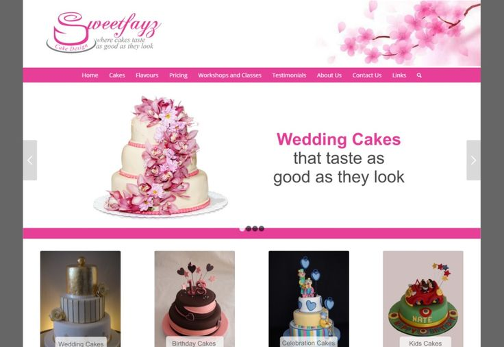 Website Design Gallery - Sweetfayz Cake Design