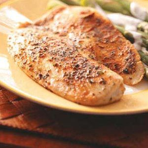 Yummy and easy Seasoned Tilapia Fillets.  Only thing I changed was a 1/2 tsp steak seasoning instead of a full. Alex's favorite recipe!