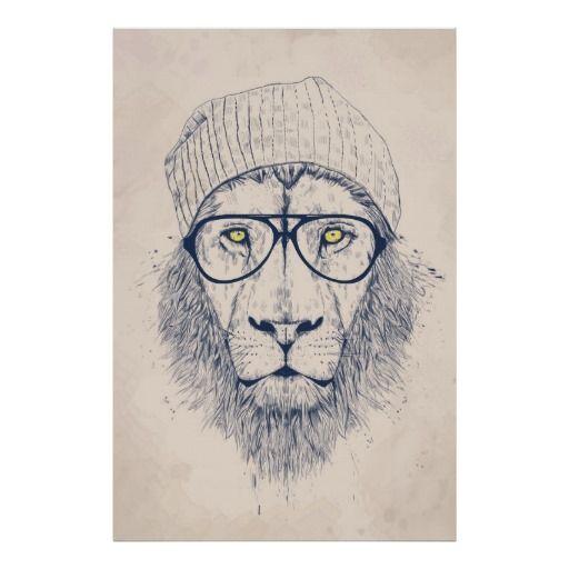 Lion frais poster