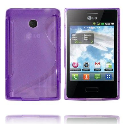 Transparent S-Line (Lilla) LG Optimus L3 Cover