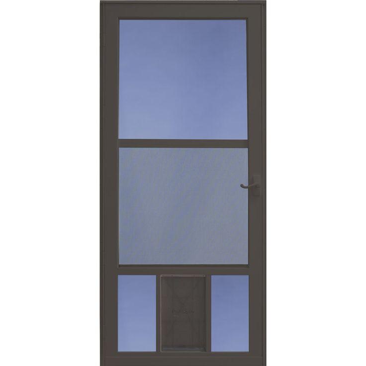 larson petview brown midview tempered glass aluminum pet door storm door common larson storm doorsgarage