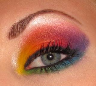Rainbow eyeshadow look using Inglot cosmetics!