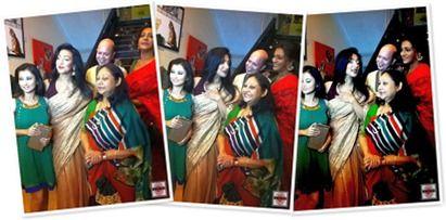 The premiere press meet was anchored by an eminent & veteran All India Radio & Doordarshan announcer and newsreader Mr. Debashish Basu. He introduced Director Reshmi Sen to the audiences & media representatives present in the Priya Cinema Hall and Director Reshmi Mitra then introduced her cast & crew. : http://sholoanabangaliana.in/rituparna-sengupta-starrer-mukti-premieres-at-priya-cinema-hall-on-the-day-of-mahalaya-2013/