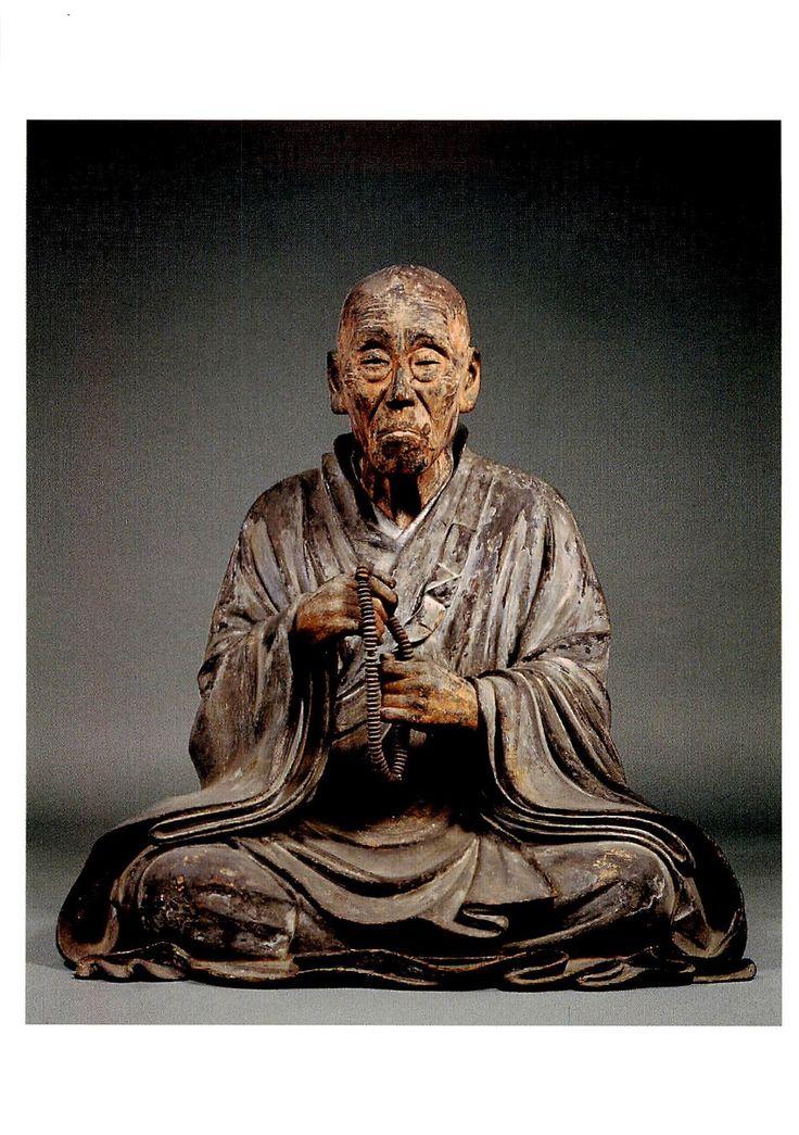 Wooden Statue of Shunjōbō Chōgen from Tōdai-ji temple (12th Century)