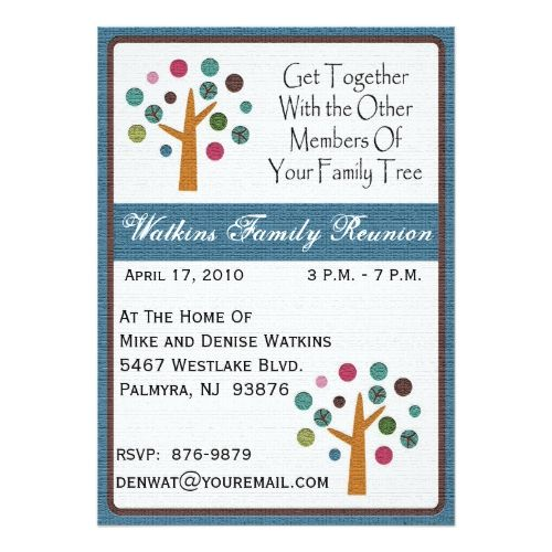 21 best Family Reunion Invitations images – Invitation Card for Get Together