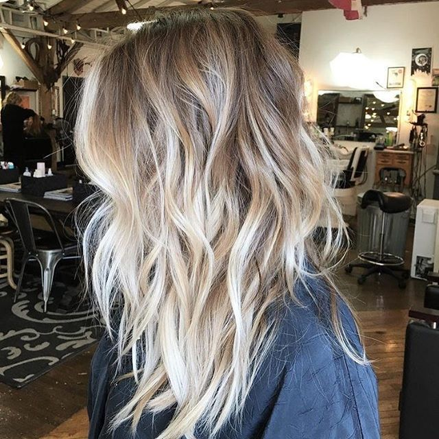 Blonde ombré hair #haircolor #balayage