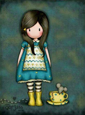 THE LITTLE FRIEND - Gorjuss © Copyright Suzanne Woolcott