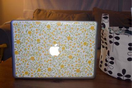 Vintagey Laptop Sticker DIY