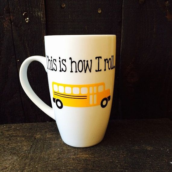 Bus driver mug by BabyAnchorCo on Etsy