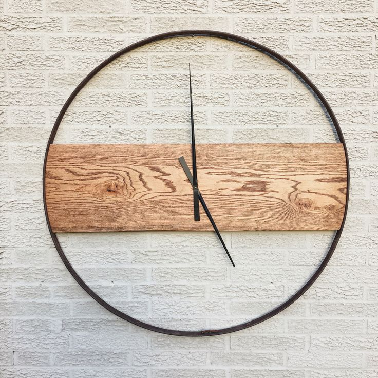 Reclaimed Oak and Iron Clock by sBoliver Designs reclaimed, ecofriendly, wood…