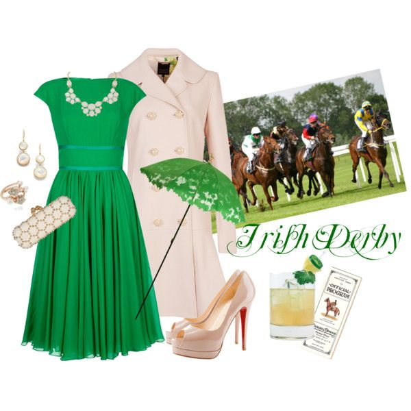 """""""Irish Derby""""  Irish themed horse racing outfit!  this"""