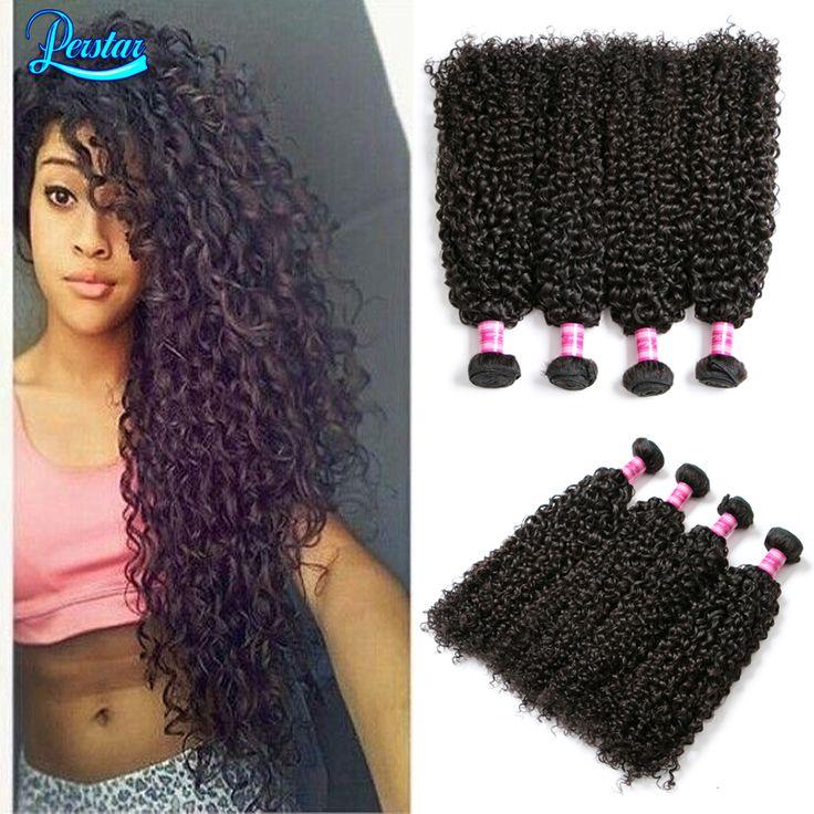 8A Brazilian Curly Virgin Hair 4 Bundles Kinky Curly Human Hair Extensions Virgin Brazilian Kinky Curly Hair Bundles Remy Hair