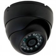 Professionel IR Dome kamera, 700 TVL, Sort