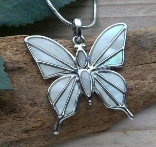 vlinder hanger parelmoer