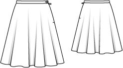 FREE Pattern -  Schnittmuster: Glockenrock - knielang - Glockenröcke - Röcke - Damen - burda style