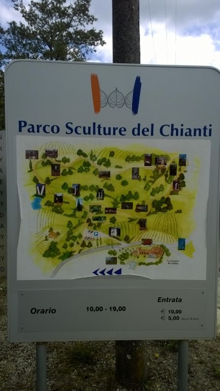 plan van het Chianti sculpture park