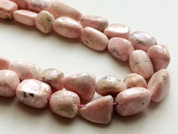 Rhodochrosite Plain Tumble Beads Natural by gemsforjewels on Etsy