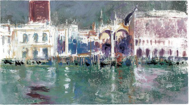 """""""La Piazzetta desde la Giudecca"""" Venecia.M.Teresa Martin-Vivaldi"""