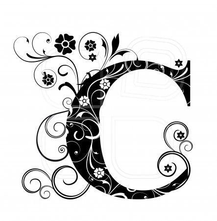 Letter Capital C, alphabet, arabic, art