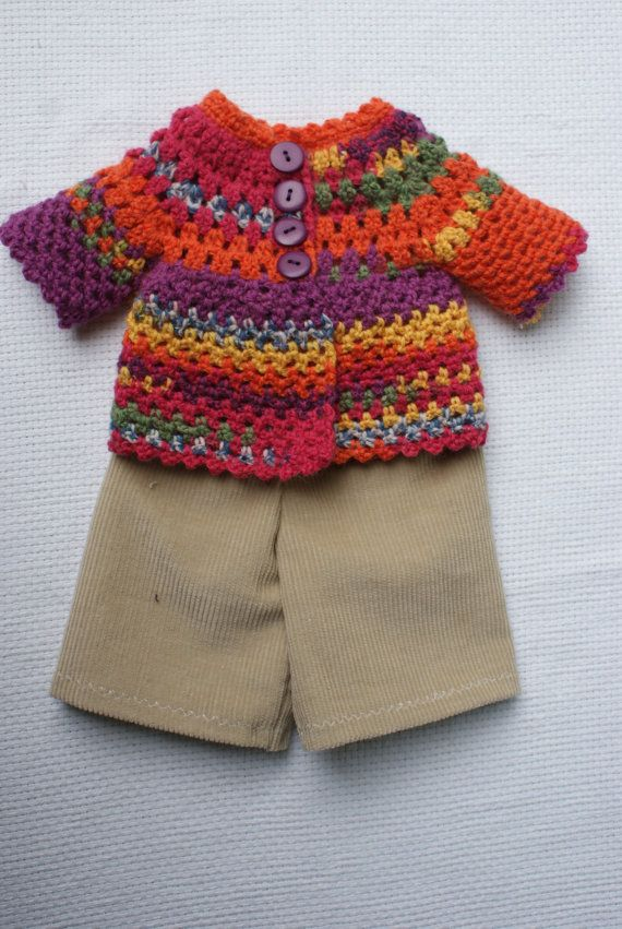 A colorful outfit out of velvet and Turkish wool by KooklaStyle, $150.00