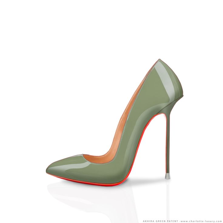 I ♥ STILETTOS - AKHIRA Green patent leather // Custom your model at CHARLOTTE-LUXURY //