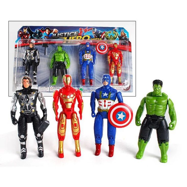 4pcs 14CM superhero Avengers Iron Man Hulk Captain America Superman Batman Action Figures gift collection of children's toys. Yesterday's price: US $4.80 (3.92 EUR). Today's price: US $1.68 (1.37 EUR). Discount: 65%.
