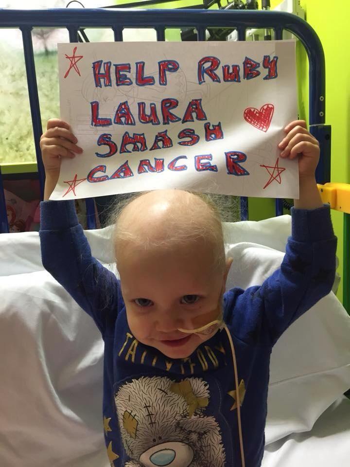 """@anita128: @ZoeTheBall pls pls help us raise £425,000 to help #rubylaura smash rare cancer https://www.justgiving.com/RubyYoungJourney/ … """