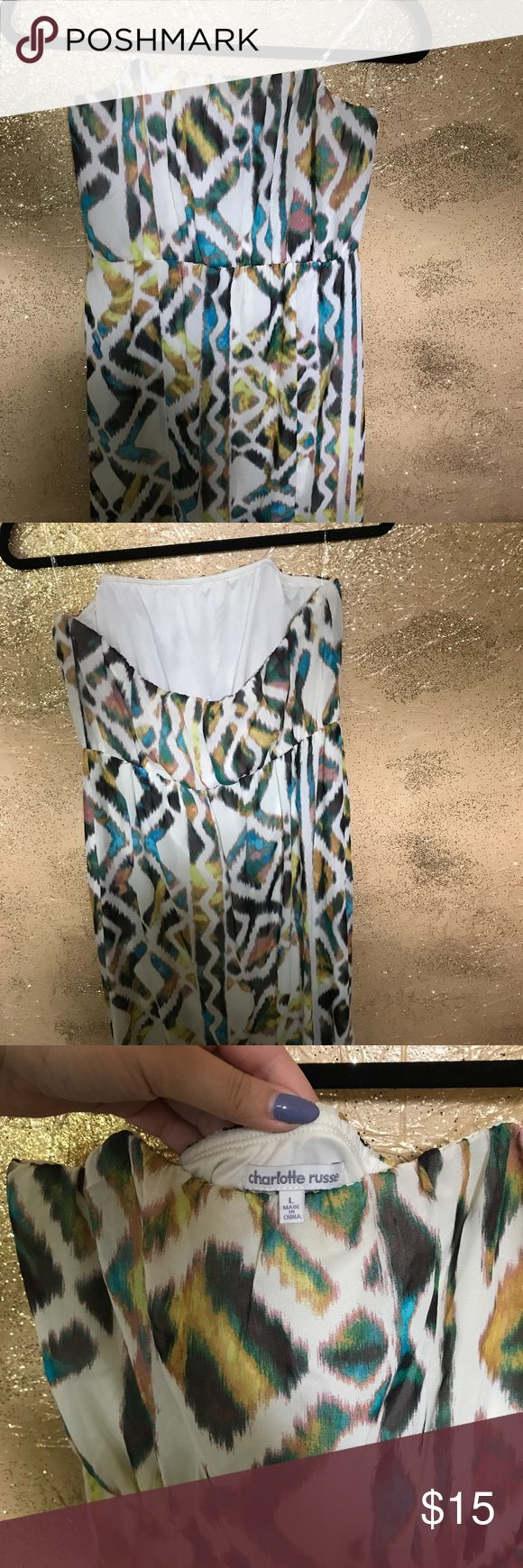 CR Tribal Maxi dress going on vacation? this is perfect! has a slit so its easy to walk & not lined all the way down so its not super hot. worn once! Charlotte Russe Dresses Maxi