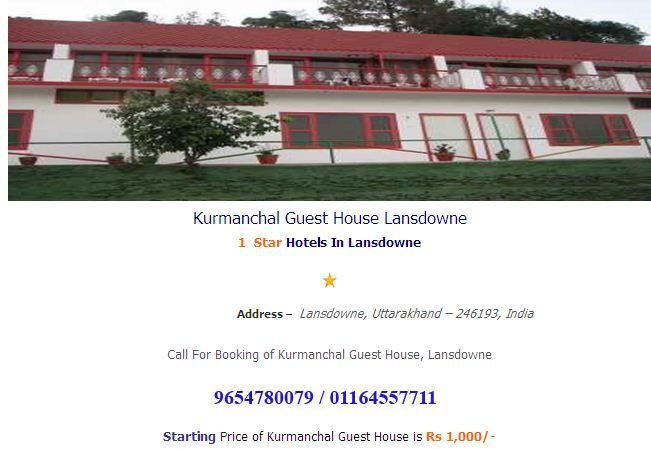 Kurmanchal Guest House Lansdowne booking at http://www.hotelsinlansdowne.co.in/lansdowne-hotels/kurmanchal-guest-house-lansdowne