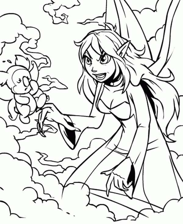 Jhudora Angry To Her Pet In Neopets Coloring Pages : Bulk ...