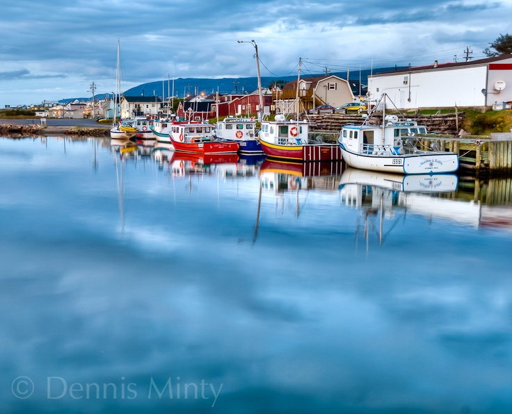 Evening in Cheticamp, Cape Breton Island, Nova Scotia. Dennis Minty