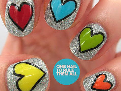 We <3 these funky #nails. http://www.ivillage.com/best-nail-art-teen-and-tween-girls/6-a-527284#