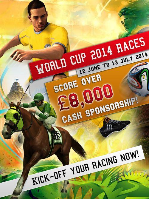 World Cup 2014 Races - Score US$13,450.00 Cash Sponsorship!