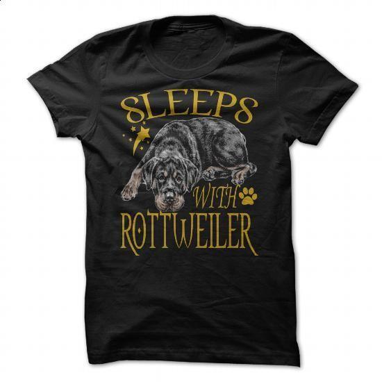 SLEEPS WITH ROTTWEILER - #tee shirts #novelty t shirts. ORDER NOW => https://www.sunfrog.com/Pets/SLEEPS-WITH-ROTTWEILER-90851909-Guys.html?60505