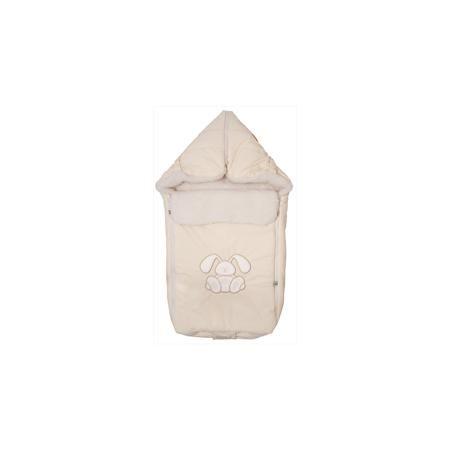 """Сонный гномик Конверт меховой Зайчик, Сонный гномик, бежевый  — 1790р.  Меховой конверт """"Зайчик"""" - красивый и практичный вариант для холодной погоды. Верх из специальной синтетической ткани Dewspa, защищает малыша от дождя и ветра. Подкладка представляет собой счёс из натуральной овечьей шерсти на синтетическом основании, поэтому, конверт очень легкий и теплый. Теплосберегающая мембрана Shelter, дополнительный клапан для защиты от ветра и удобная конструкция на двух застежках-молниях…"""