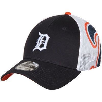 Men's New Era Navy Detroit Tigers Logo Wrapped 39THIRTY Flex Hat