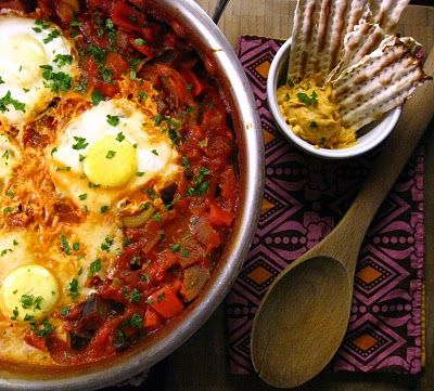 Shakshouka, traditional Israeli dish.  A friend from Israel made this once for a group of us, it was amazing, want to try to make it.