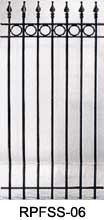 This is a nice looking wrought iron fence panel that would look great in front of the house.