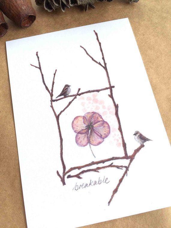Art postcard of pastel drawing pressed by TheCharcoalUniverse