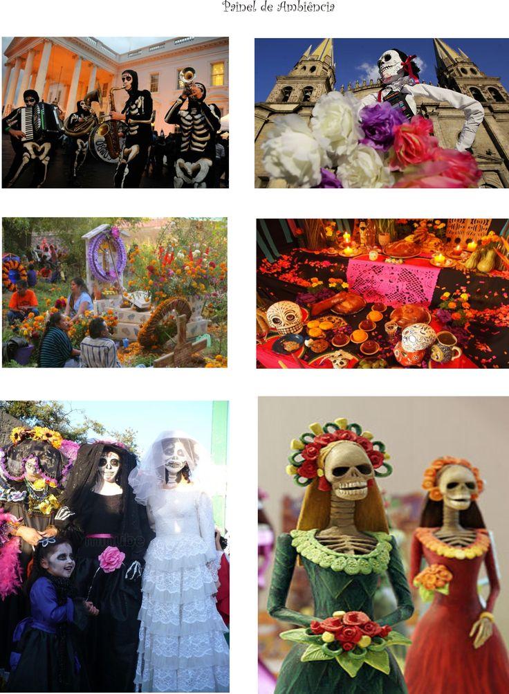 Coleção Dia dos Mortos de Açúcar - Inspiração : Dia dos Mortos no México - Painel de Ambiência