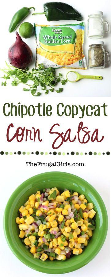 Easy Corn Salsa Recipe {Chipotle Copycat} at TheFrugalGirls.com