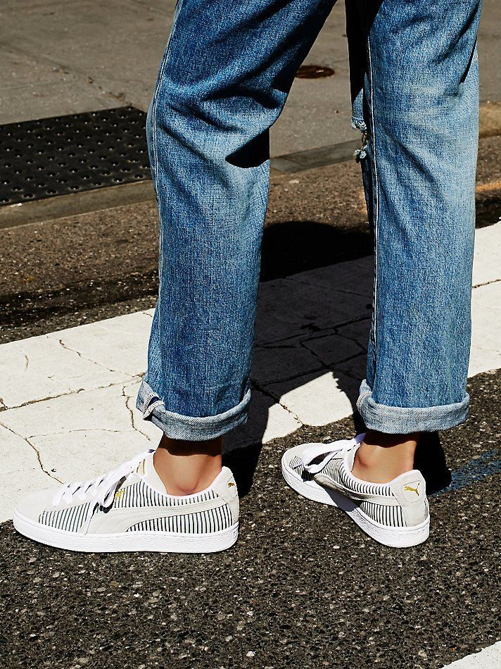 Free People Classic Stripes Trainer, $65.00