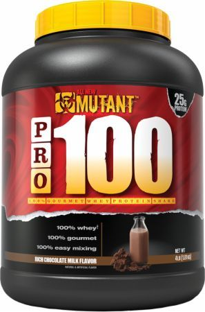 MUTANT PRO 100 Rich Chocolate Milk 4 Lbs. PLV3110126 Rich Chocolate Milk - High Quality 100% Pure Whey Protein You Can Trust To Support Healthy Muscle Building