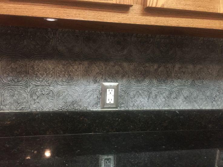 Diy backsplash lowe 39 s textured wallpaper for Textured wallpaper for kitchen backsplash
