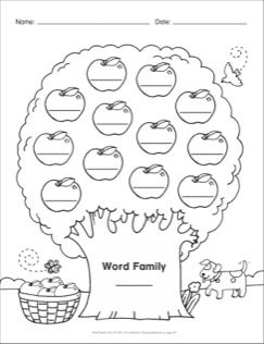 Blank Template: Word Family Tree