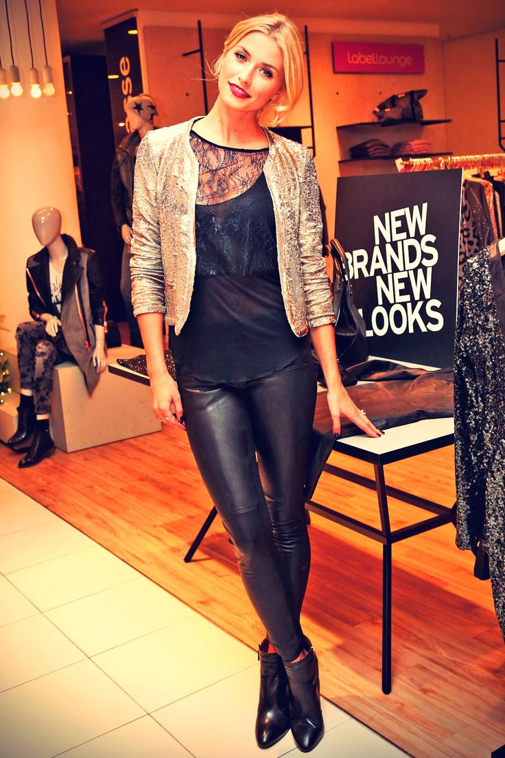 Lena Gercke autograph session at the Karstadt store Young Fashion