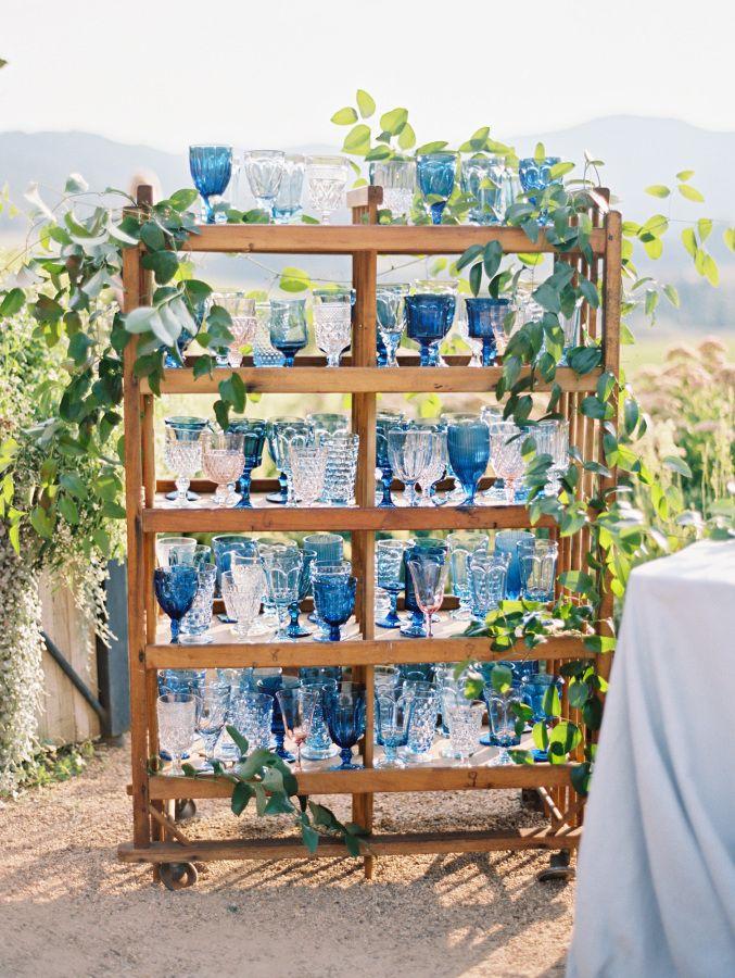 Blue hued wedding glasses: Photography: Ryan Ray - http://ryanray.com/
